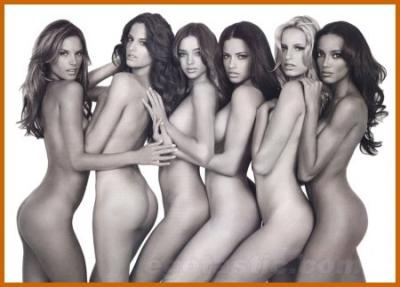 The Victoria's Secret Models pose nude